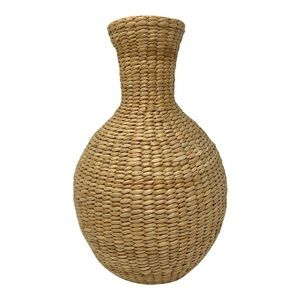 Woven Jute Wrapped Glass Water Jug Vase